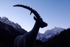 Free Bronze Ibex Statue Stock Image - 2021881