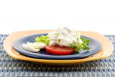 Free Egg, Tomato And Potato Salad Stock Image - 2023131