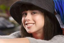 Free Head Shot Od A Cute Teenage Girl Royalty Free Stock Image - 2024166