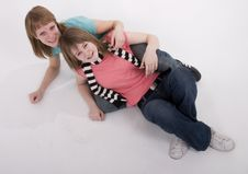 Free Two Girls On The Floor Stock Photo - 2024660