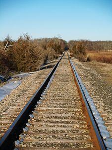 Free Rail Road Tracks Stock Image - 2025701