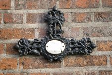 Free Metal Cross On A Brick Wall Royalty Free Stock Photo - 2025745