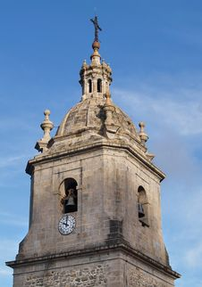 Church Bell Tower And Clock Royalty Free Stock Image