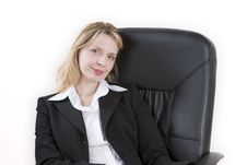 Free A Woman Relaxing On A Chair Stock Photos - 2028033