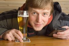 Free Man With Beer Stock Photos - 2028423