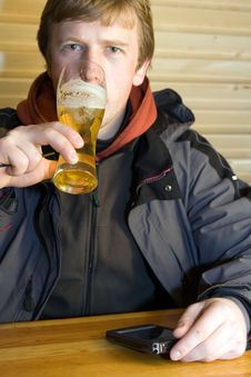Free Man With Beer Stock Photography - 2028462