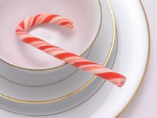 Free Candy Cane In Cup Stock Photography - 2028962