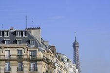 Free Eiffel Tower As Seen From The Rue Passy Stock Image - 2029311