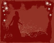 Free Girl In Red Background Royalty Free Stock Photos - 2029968