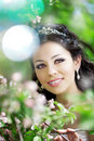 Free Beautiful Bride In A Blossoming Garden Royalty Free Stock Photography - 20200487