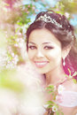 Free Beautiful Bride In A Blossoming Garden Royalty Free Stock Image - 20201376