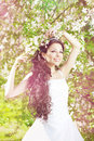 Free Beautiful Bride In A Blossoming Garden Royalty Free Stock Image - 20201956
