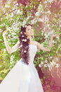 Free Beautiful Bride In A Blossoming Garden Royalty Free Stock Photos - 20202598
