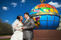 Free Happy Couple Bride And Groom At A Wedding Walk Royalty Free Stock Image - 20206596