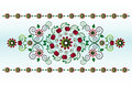Free Horizontal Ornament With Flower Royalty Free Stock Photography - 20207297