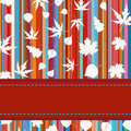 Free Colorful With Stripes & Maple Leaves. EPS 8 Royalty Free Stock Photography - 20207437