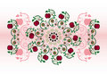 Free Horizontal Ornament With Flower Stock Photography - 20207452