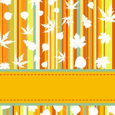 Free Colorful With Stripes & Maple Leaves. EPS 8 Royalty Free Stock Photography - 20200117