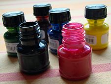 Free Ink Bottles Royalty Free Stock Photo - 20200275