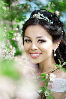 Free Beautiful Bride In A Blossoming Garden Stock Photography - 20200462