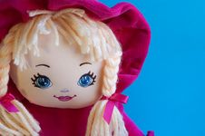 Portrait Of A Rag Doll Royalty Free Stock Photography