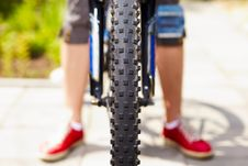 Free Front View Of A Cycle With Front Wheel Stock Images - 20203164