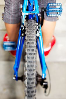 Free Rear View Of A Cycle With Wheel And Brake Stock Images - 20203284