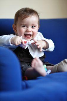 Free Laughing Baby Stock Image - 20203551