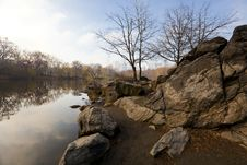 Free Lake In Central Park Early Spring Stock Photography - 20203812