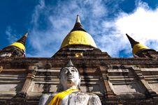 Free Wat Yai Chai Mongkol In Ayutthaya Royalty Free Stock Photography - 20206777