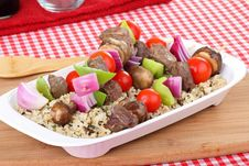 Beef Kabobs Stock Photo