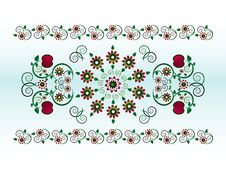 Free Horizontal Ornament With Flower Stock Image - 20207321