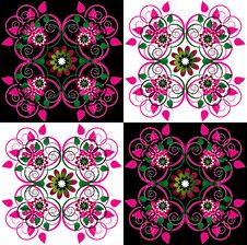 Free Decorative Background With Flower Stock Images - 20207344