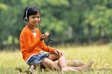 Free Girl With Headset 03 Stock Photos - 20207383