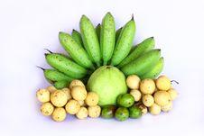 Free Bananas,guava,Lang Saads And Myrobalans Stock Image - 20207591