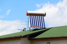 Free Solar Water Heater Stock Photos - 20207603
