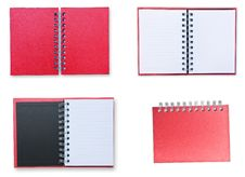 Free Set Of Red Notebook Stock Photos - 20207933
