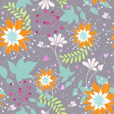 Free Floral Seamless Pattern Royalty Free Stock Photo - 20208225