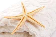 Free Starfish On Soft White Towel Stock Photo - 20208940