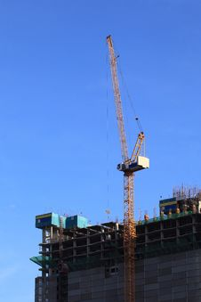 Free Crane At Construction Site Stock Photos - 20209713