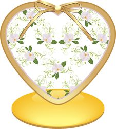Free Glass Heart With Orchids Royalty Free Stock Photo - 20210545