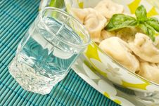 Free Pelmeni And Vodka Royalty Free Stock Photo - 20211105