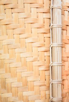 Free Bamboo Wickerwork Close Up Royalty Free Stock Image - 20211306
