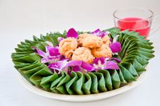 Free Cookie On Orchid Flower Stock Photo - 20211440