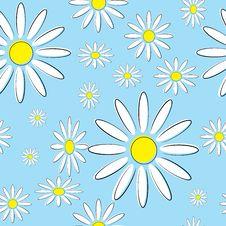 Free Seamless Illustration Of Daisies Royalty Free Stock Photo - 20213495