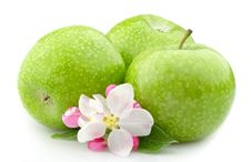 Free Apple With Flowers Royalty Free Stock Photo - 20214545