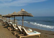 Free Empty Beach On Mediterranean Shore. Crete Royalty Free Stock Photography - 20219227