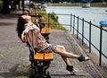 Free Beautiful Latina Having Fun In The Park Stock Images - 20227904