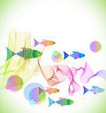 Free Tender Colorful Background With Fish Royalty Free Stock Photo - 20229385
