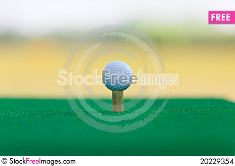 Free Golf Ball On The Green  With Green Background Stock Images - 20229354